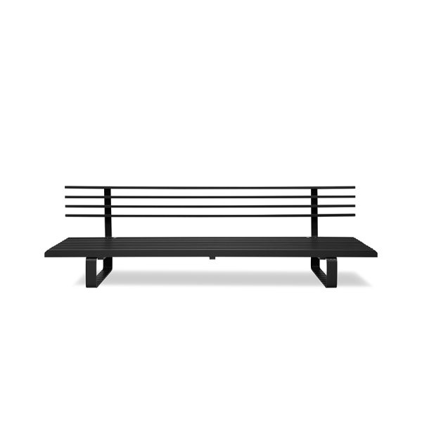 aluminium outdoor lounge sofa charcoal