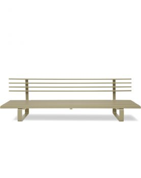 aluminium outdoor lounge sofa olive