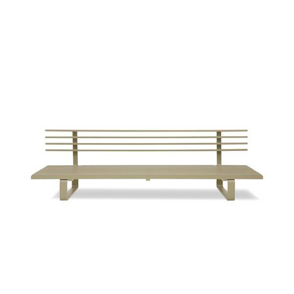 aluminium outdoor lounge sofa olive