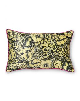 DORIS for HKLIVING: printed satin cushion retro (25x40)