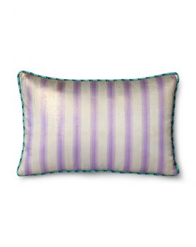 DORIS for HKLIVING: printed satin cushion glitter (25x40)