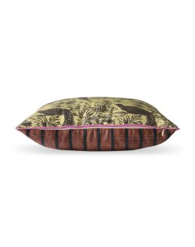 DORIS for HKLIVING: printed silk cushion jungle (30x40)