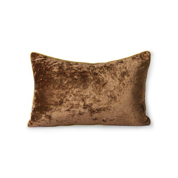 DORIS for HKLIVING: stitched cushion blue brush (25x40)