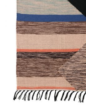 hand woven indoor/outdoor rug multicolour (120x180)