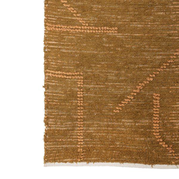 hand woven cotton runner mustard/honey (70x200)