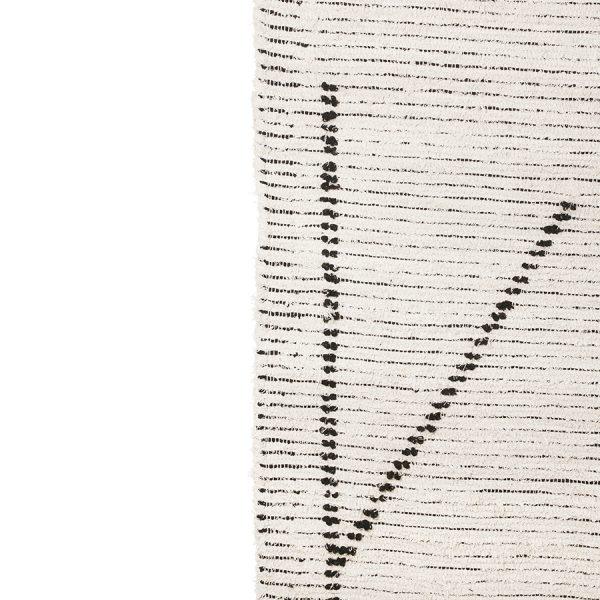 hand woven cotton rug cream/charcoal (200x300)