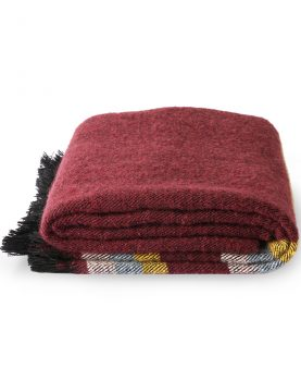 DORIS for HKLIVING: fluffy throw burgundy (130x150)