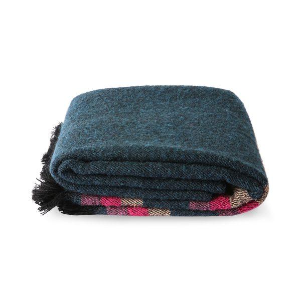 DORIS for HKLIVING: fluffy throw blue (130x150)
