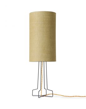 jute cylinder lamp shade jade green
