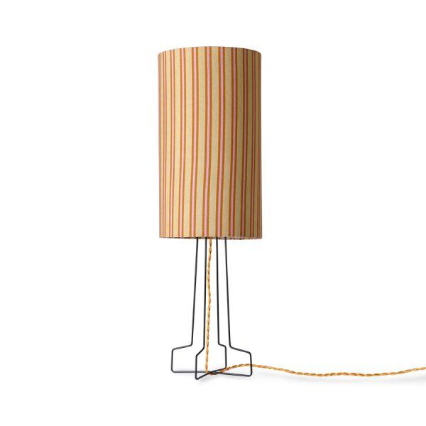 DORIS for HKLIVING: printed cylinder lamp shade stripes