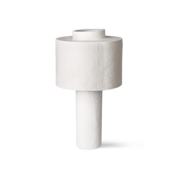 gesso table lamp matt white