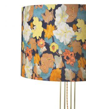 DORIS for HKLIVING: metal wire floor lamp brass