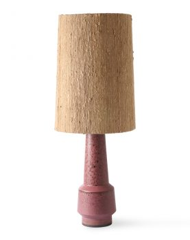 retro stoneware lamp base purple