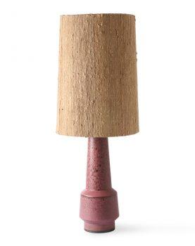 retro stoneware lamp base purple