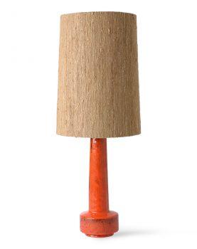 retro stoneware lamp base red