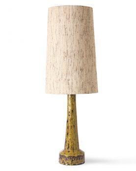 retro stoneware lamp base mustard